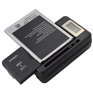 LOT-OF-2-NEW-DIGITAL-LCD-UNIVERSAL-CELL-PHONE-BATTERY-CHARGER-USB-PORT