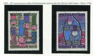19330-UNITED-NATIONS-Vienna-1983-MNH-Hundertwasser