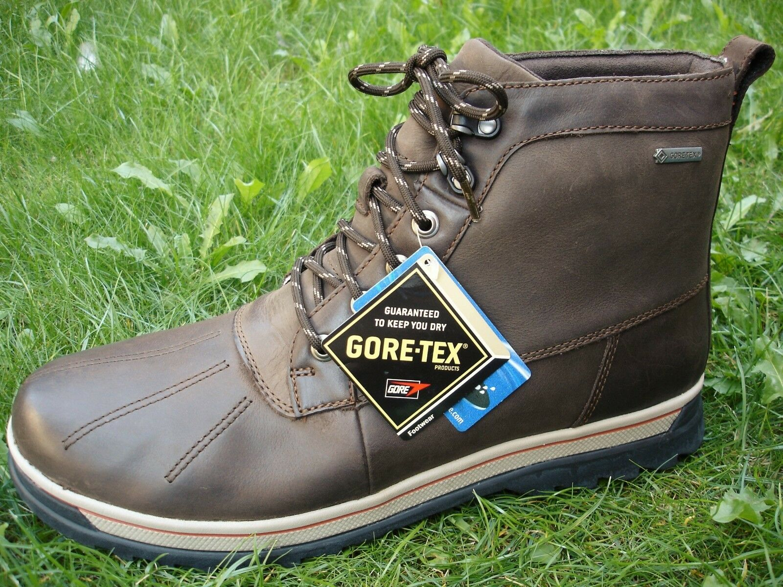 Clarks  WATERPROOF Ripway Trail BROWN LEATHER Boots Men WIDE-FIT UK-13 H  48 W