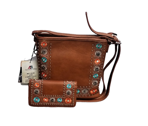 Montana-West-Horse-Saddle-Purse-Matching-Wallet-Country-Western-Crossbody-Bag