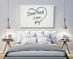 Image Is Loading Dear Bed I Love You Wall Art Bedroom