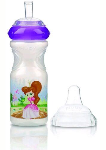 Nuby Baby Kids Water Bottle Sports Sipper Leak Proof 300ml