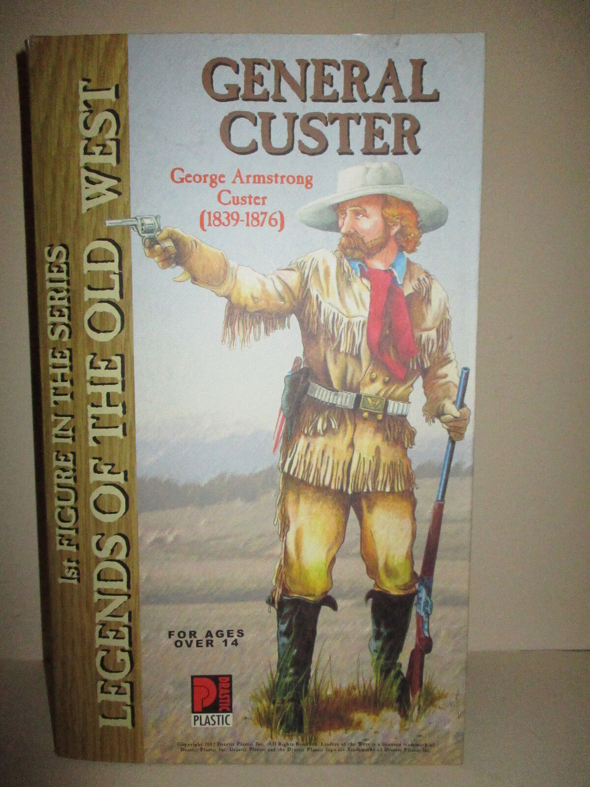 DRASTIC PLASTIC 12 INCH GENERAL CUSTER AT THE BATTLE OF THE LITTLE BIG HORN MIB