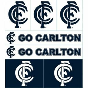Carlton-Blues-AFL-LOGO-Sticker-Sheet-for-Car-School-book-Christmas-Birthday-Gift