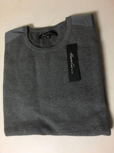 NWT Mens Kenneth Cole New York Nylon Patch Crew Sweater Sportswear SZ M//L//XL//XXL