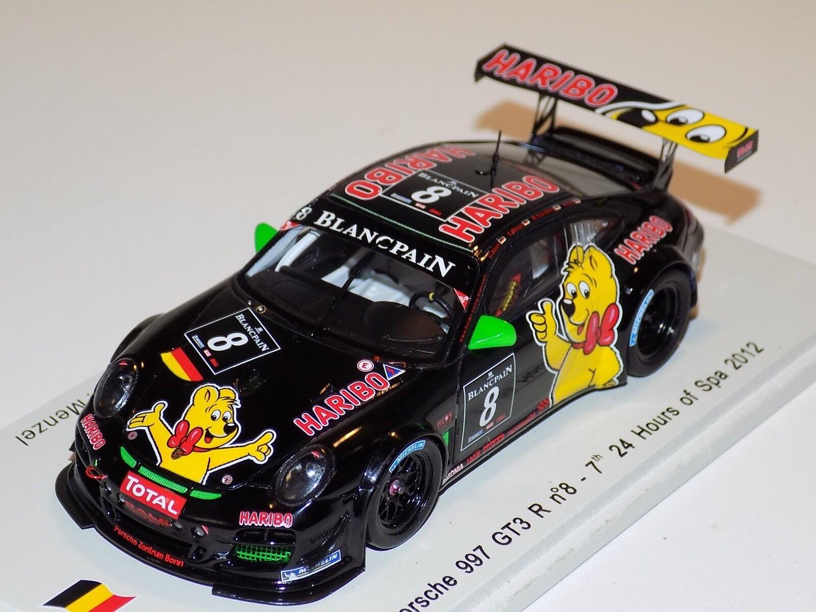 1/43 Spark Porsche 911   997   GT3 R Car  8  24 Hours of Spa 2012  SB031