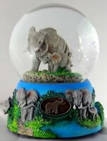 Sculptured Elephant With Baby Snow Globe - Water Ball Music Box baby Elephant W on sale
