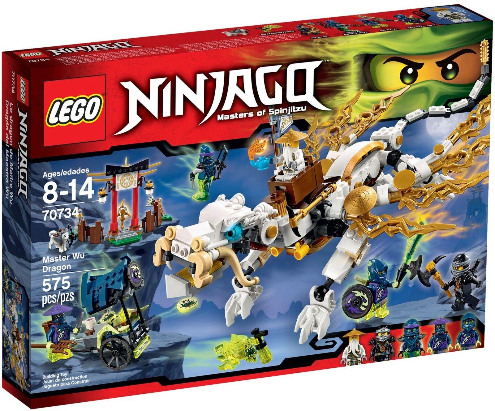 NEUF LEGO NINJAGO 70734 Master Wu Dragon Factory sealed retirouge