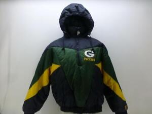 d191f4cd9b3 Green Bay Packers Pro Player thick 1 2 zip hooded Puffer Coat jacket ...