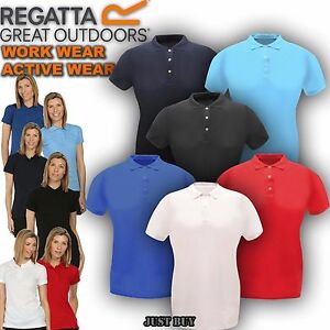 Regatta-Polo-T-Shirt-Womens-Classic-Walking-Outdoor-Hiking-Work-Gym-Sport-Top