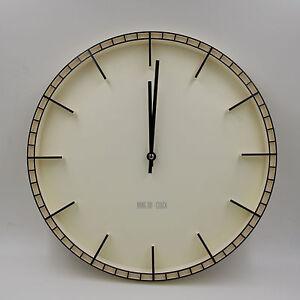 38cm-Quartz-Horloge-Murale-tres-calme-de-gare-grande-du-salon-elegant-creme