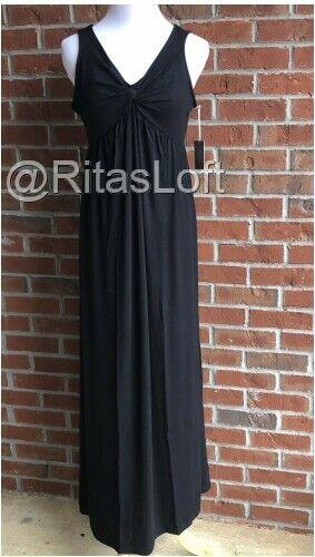 Take Nine Large Maternity Maxi Casual Long Black Dress Polyester Sleeveless For Sale Online Ebay