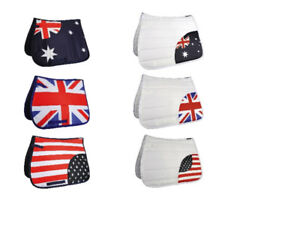 HKM-Flag-Quilted-Dressage-Saddlecloth-Pad-Square-All-Sizes-Styles-FREE-DELIVERY