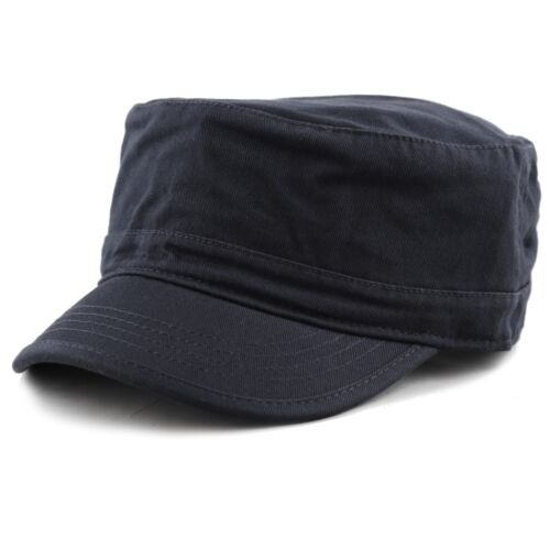 Cadet Army Washed Cotton Basic Cap Military Style Hat 60012