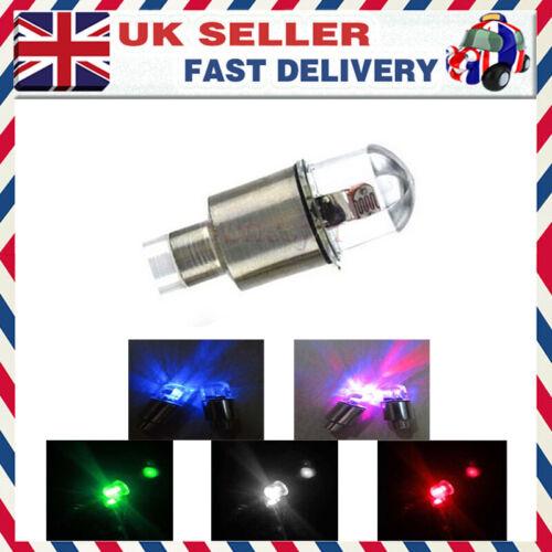 1X Car Motorcycle Wheel Tyre Shock Sensor Light LED Tire Valve Dust Cap Decor