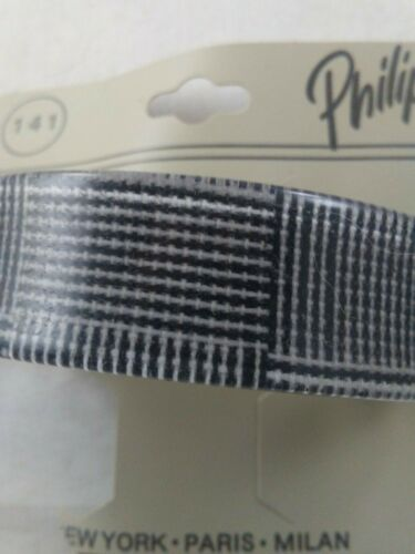 Details about  /Vtg 1980/'s Curved Hair Clip Ponytail Holder ENCASED LUCITE BLACK WHITE STRIPE *s