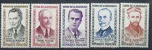 France-N-1248-52-MNH-1960-Heros-de-la-resistance