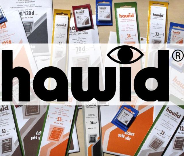 HAWID-Zuschnitte Klemmtaschen 27,5 x 33 mm, schwarz, 50 Stück (blaue Verpackung)