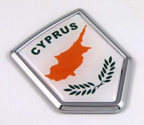 Cyprus Flag Car Chrome Emblem Decal 3D bumper Sticker bike Crest