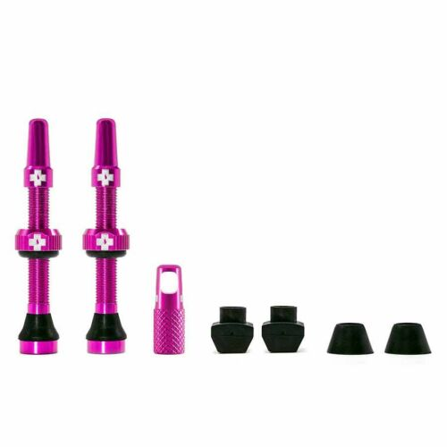 44mm Presta Pair Pink Tubeless Bicycle Tire Valve Pink Muc-Off
