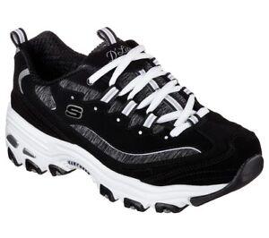 256c5c52bc A imagem está carregando Skechers-dlites-Wide-Fit-Preto-Sapato-Feminino -Esporte-