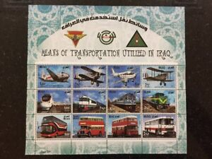 Details about Iraq 2017 July Stamp Means Transportation Iraqi Airforce  Trains Busses Sheetlet