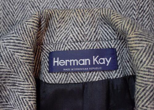 Laine Femme 10 À Kay Swingbone Swing En Herman Rayures e Taille Gris Manteau HIzWq