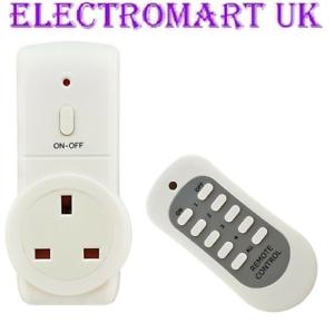 1 Way Télécommande sans fil Plug in Socket Secteur 13 A Économie D/'énergie