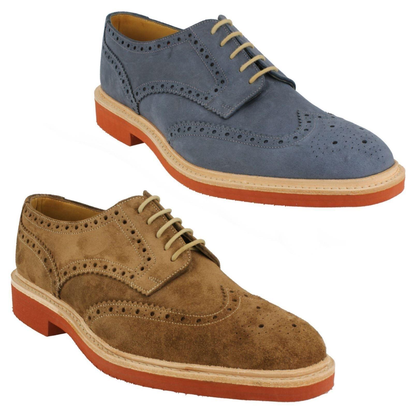 Hombre Loake Engrasado ante Cuero Cordones Zapatos Oxford de Vestir Logan Talla 6