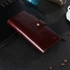 Men/'s Vintage Genuine Leather Long Bifold Wallet Money Card Holder Clutch Purse