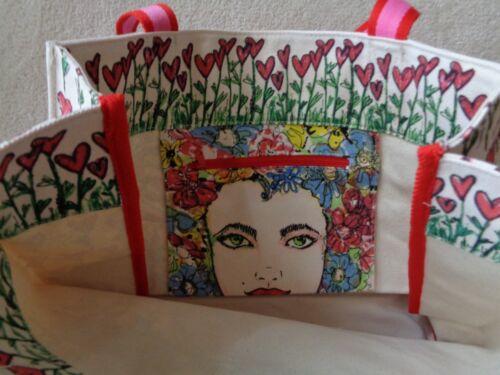 Canvas D30167 Love Handgeschilderd Valentijnsdag Tweet Brighton Tote New100 kXiZOPuT