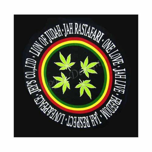 HEMP BANDANA Zandana Marihuana Gras Head Wrap Handkerchief Biker Head Band Cap