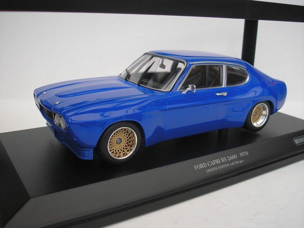 Ford Capri I RS 2600 1970 bleu 1 18 Minichamps 155708501 NEUF
