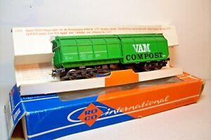WAGONS-TRAIN-HO-DOUBLE-TREMIE-034-VAM-COMPOST-034-de-ROCO-OCCASION-en-boite-4368