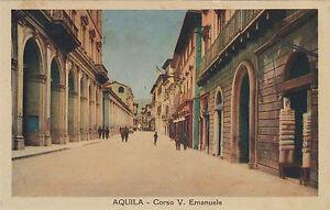 NP7376 - AQUILA - CORSO VITTORIO EMANUELE A COLORI NON VIAGGIATA ED. FOGOLA