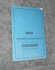1970 Mercury Cougar Hardtop Convertible Xr7 Eliminator Original Owners Manual