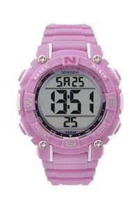 Sekonda-Unisex-Digital-Quartz-Watch-With-Pink-Resin-Strap-1763