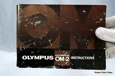 Olympus Camera OM-2 Intruction Manual Guide Genuine noi pages missing