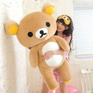 80CM*San-x Rilakkuma Relax Bear Soft Giant Plush Doll Toy Stuffed Pillow Gift