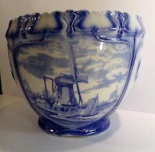 Joli Cache-pot, céramique Grimwade, Straffordshire, England, style Delft