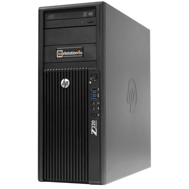 HP Z220 Pc Workstation Xeon e3-1220 3 ,4 GHz,RAM 4gb,250gb HDD,Quadro 600 ,W7
