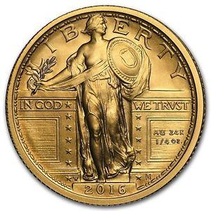 2016-W 1/4 oz Gold Standing Liberty Quarter Centennial (w/OGP) - SKU #95500