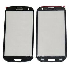 Samsung Galaxy S3 i9300 Black Lens Glass Front Screen Outer Replacement SIII