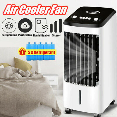 Portable Air Conditioner Fan Humidifier Cooling Bedroom Cooler Cube Water Silent | eBay