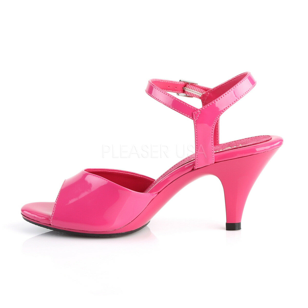 PLEASER FABULICIOUS BELLE-309 HOT PINK ANKLE PATENT ANKLE PINK STRAP SANDALS Schuhe c28cae