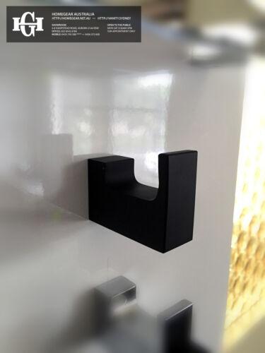 Bathroom Accessories NEW MODERN Square Matte Black Metal WALL//Robe//Towel HOOK