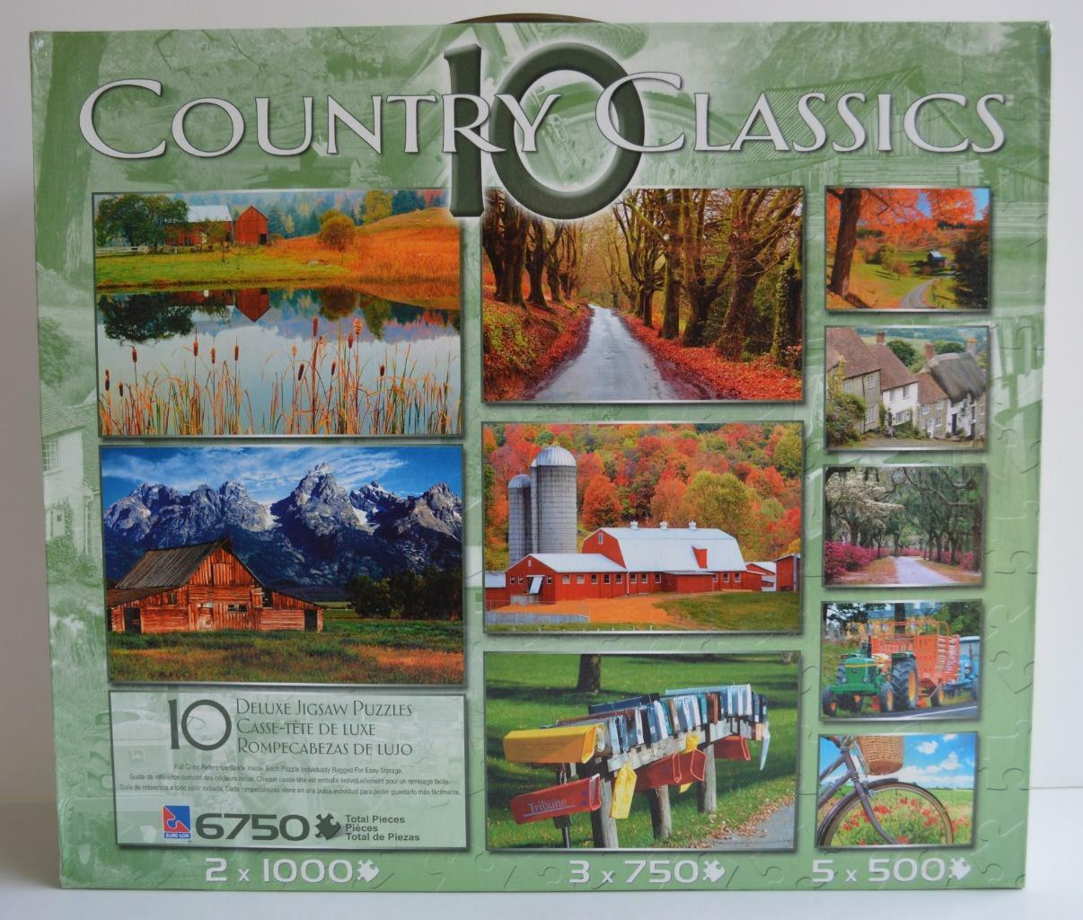 Sure Lox  10 Country Classics  10 Puzzles 6750 Total Total 6750 Pieces  New a2e377