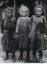 POSTCARD OF YOUNG GIRL OYSTER SCHUCKERS FROM EARLY 1900'S BEFORE LABOR LAWS