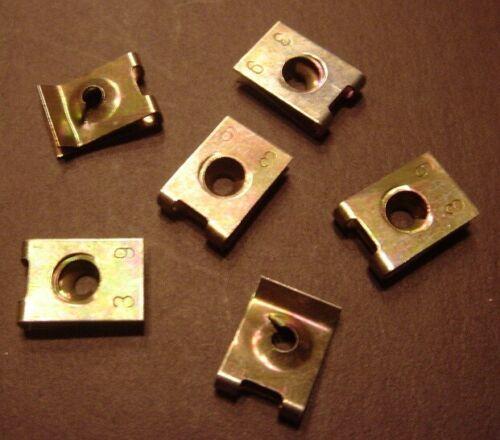 25 x Blechmutter Schnappmutter 3,9-6,5 mm gelb verzinkt