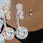 miniatuur 1 - Celebrity Silver Gold Cubic Zircon Dangle Navel Ring Belly Button Body Piercing
